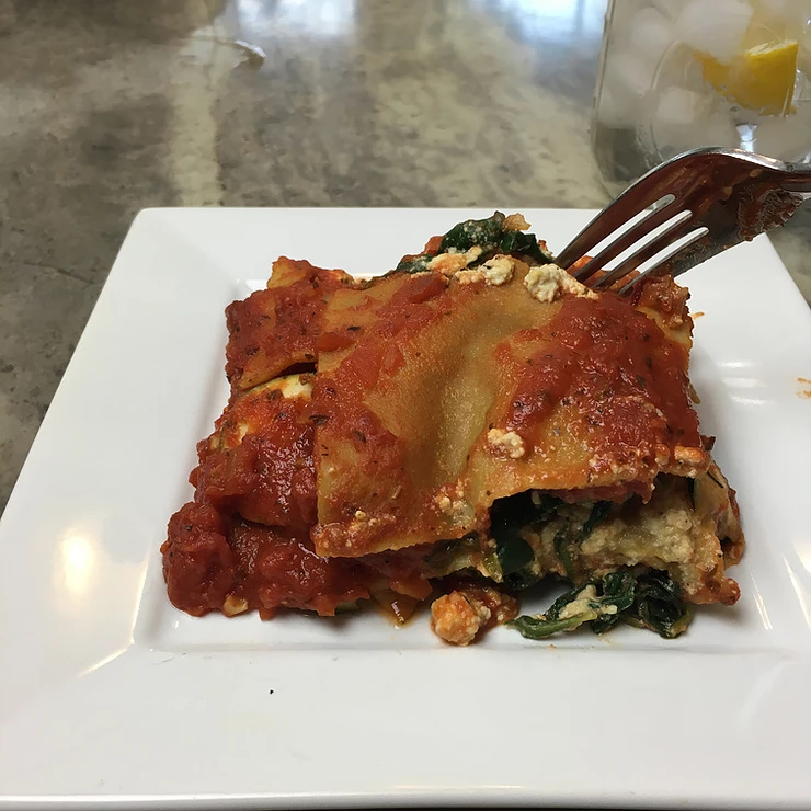 Spinach And Zucchini Lasagna With Tofu Ricotta