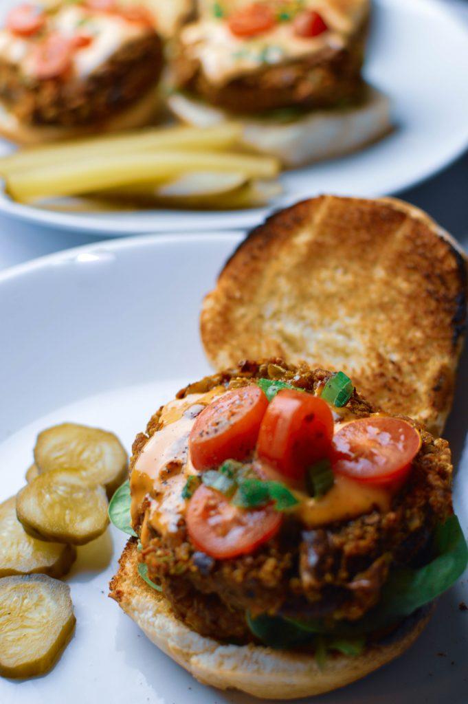Sweet Potato Kidney Bean Burger