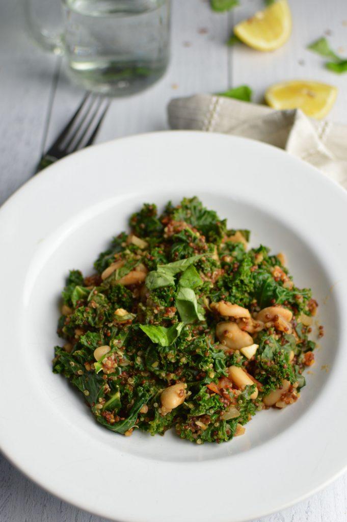 Cannellini Bean and Quinoa Skillet