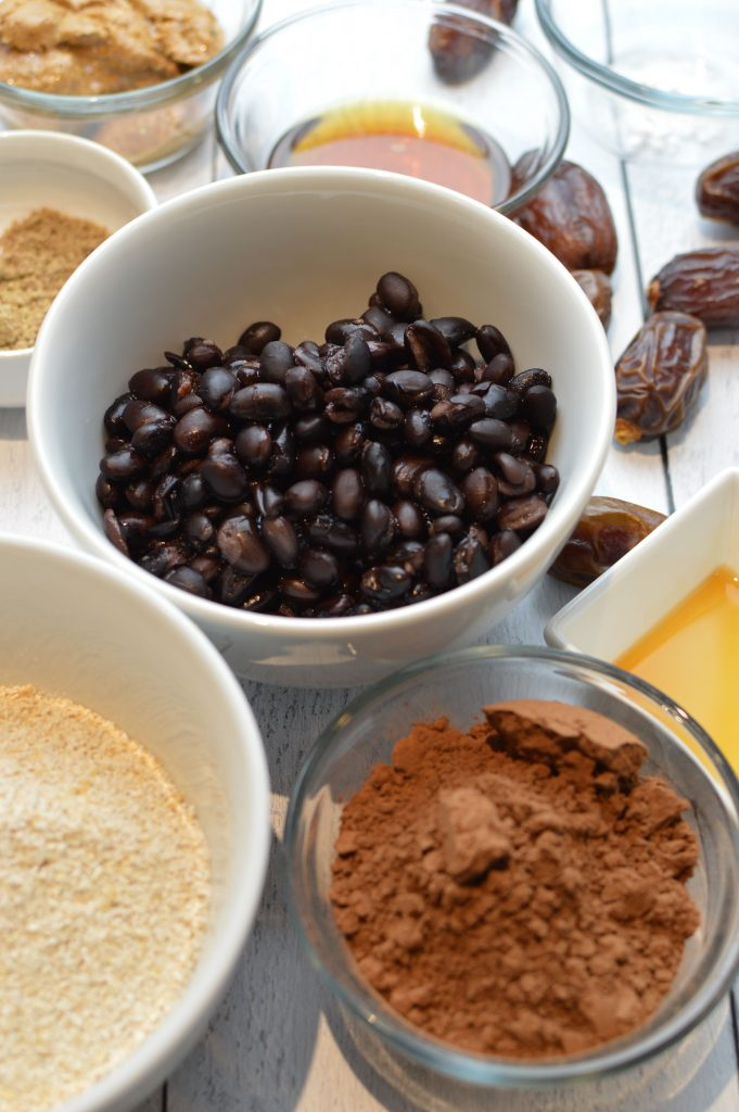 Ingredients for Vegan Chewy Chocolate Brownies