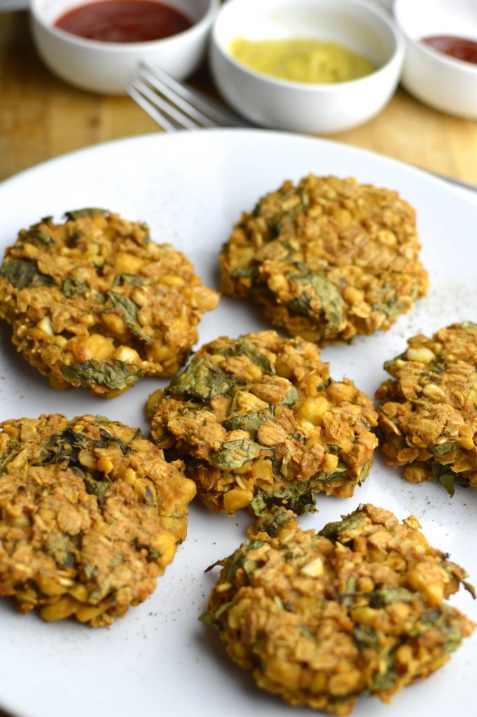 Vegan Chickpea Spinach Patties