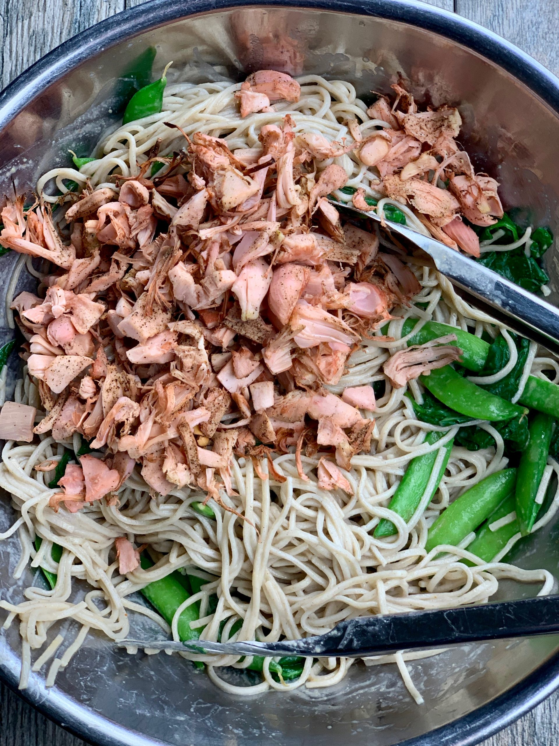 Spicy Soba Noodles with Jackfruit And Sugar Snap Peas Ingredients