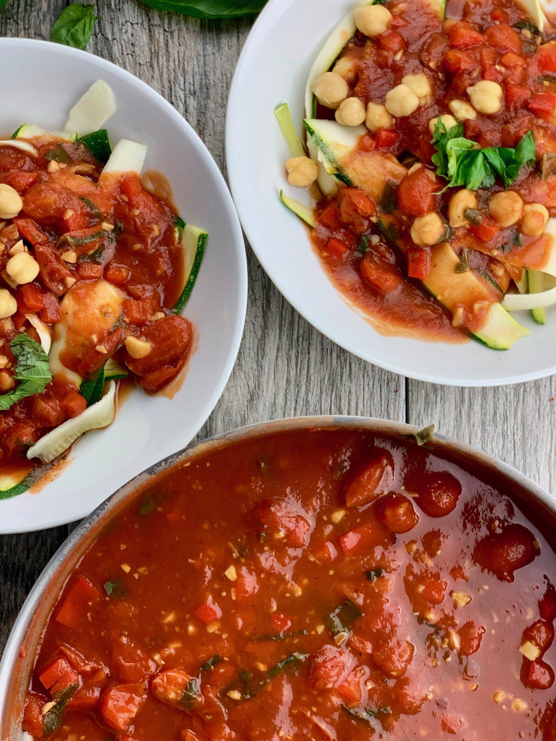 Quick Tomato Basil Sauce