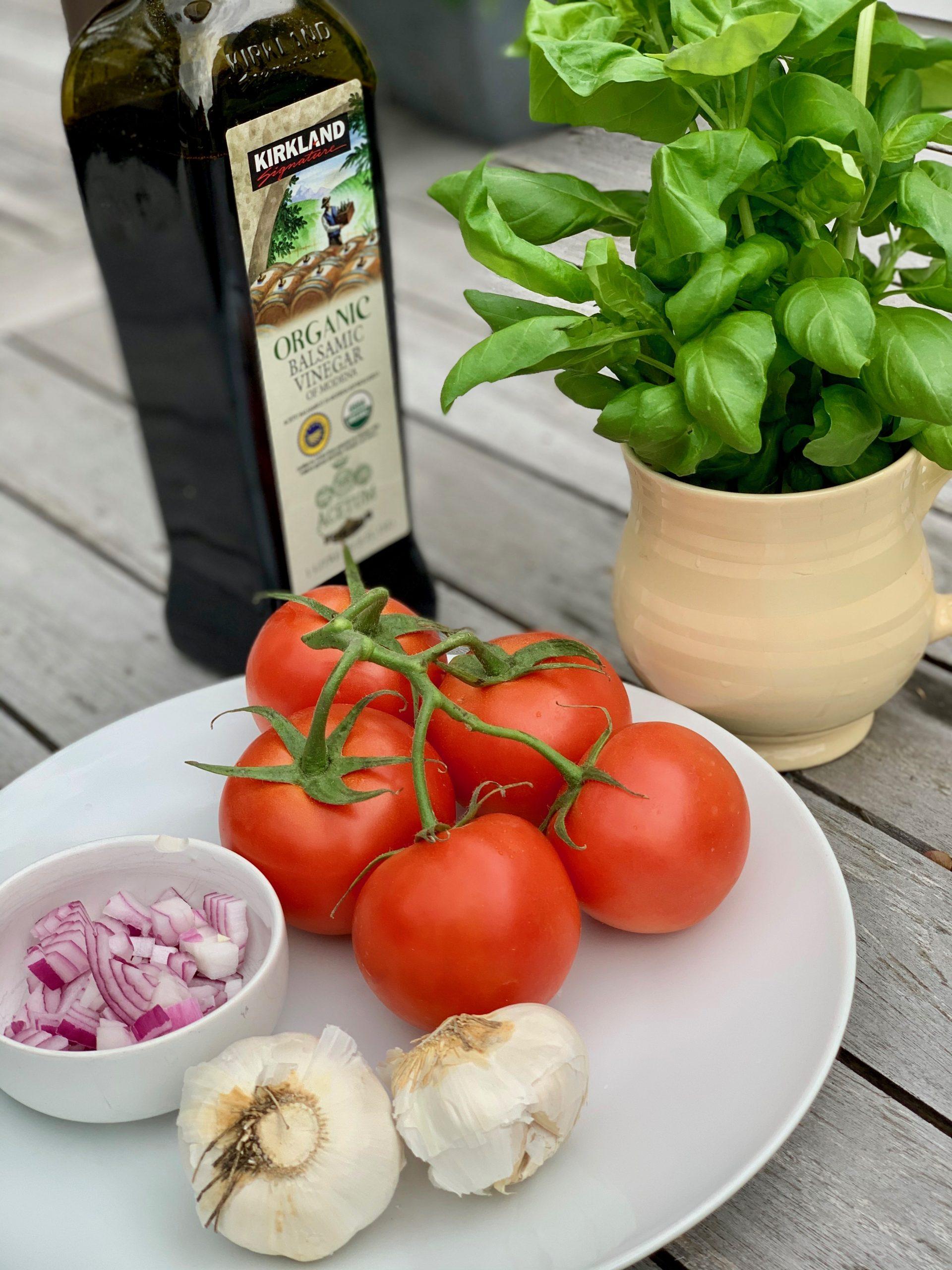 Simple Bruschetta (Oil Free) Ingredients