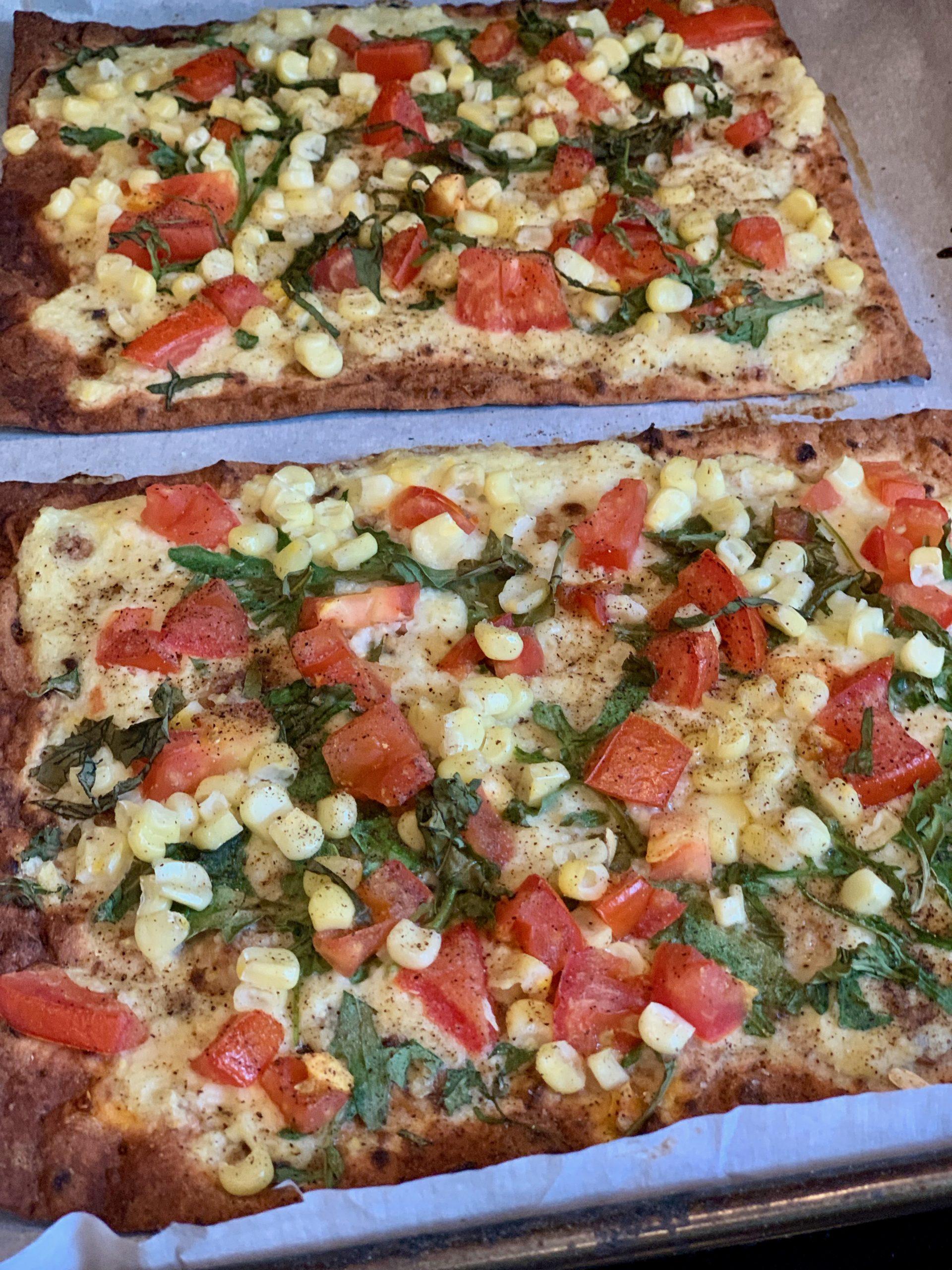 Sweet Corn and Tomato Flatbread